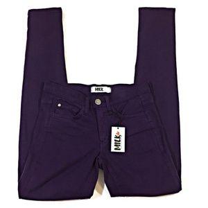 Milk Denim Skinny Jeans in Dark Purple Size 26 NWT